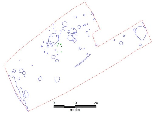 Udgravningsfeltet per 4. februar 2010