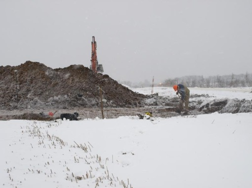 Udgravning i snevejr