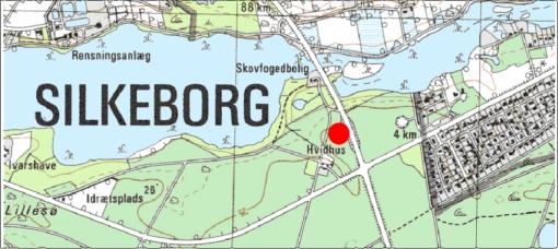 Kort over stedet