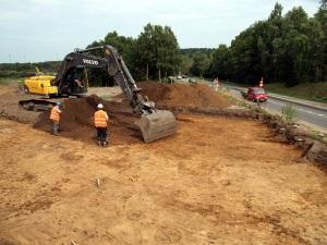 Udgravning ved ringvejen