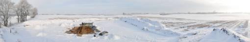 Panorama over det nu afsluttede felt.