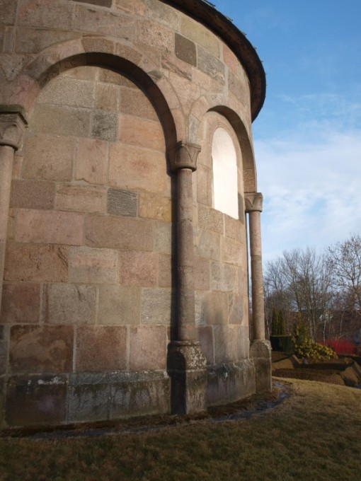 Detalje af Grønbæk kirkes apsis